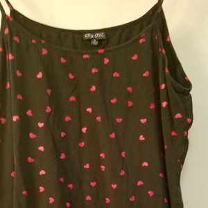 Cute back with red hearts cami